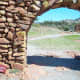 Oklahoma's Jerusalem: The Holy City of the Wichitas: Detail of the main Gate entering the Holy City of the Wichitas.