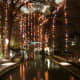 San Antonio River Walk with Christmas Lights