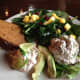 Salad Trio with Pumpkin Bread from the Huisache Grill