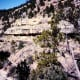 View of some of the cliff dwellings in Walnut Canyon