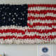 American Flag made of teddy bears.  It set a world record.