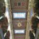 The ornate ceiling in Jerusalem Synagogue.