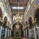 Colorful interior of Jerusalem Synagogue.