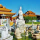 Fountain with Quan Am statue & zodiac figures