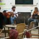 Duo at the American Bar in Mahon.