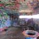 Inside the pillbox is full of graffiti
