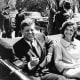 A Happy Photo Of President Kennedy And Jackie Kennedy.
