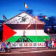 Free Derry Corner during the most recent siege of Gaza