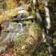 The small waterfall on Trail 6 around Strahl Lake
