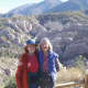 A friend and me (right) before starting down the trail. The mountains in the background are 8,000 ft. high.