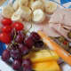 banana slices, olives, grapes, cherry tomatoes, cheese slices, variety of cold cuts ie: chicken, ham, turkey