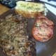 Grilled Steak with seared  tomato