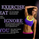 """EXERCISE to be FIT, not """"skinny"""" EAT to nourish your body and always IGNORE the bouters & unhealthy examples that wr once feeding you. YOU are worth more than you realize."""