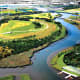 A projected image of the future reclaimed fields and waterways