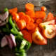 Eat a healthy rainbow of flavor—research has found that people who eat a larger number of vegetables have lower rates of cancer.  Vegans have the lowest rates.