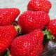 What's not to love about strawberries?  They are low in calories, high in fiber, vitamins and minerals such as vitamin C, folic acid, potassium and they have antioxidants.