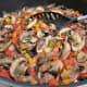 Saute the mushrooms until softened