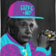 If Einstein look cool, just because his brain --not his hat and jacket.
