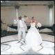 Wanisha and Moe, danced together at their wedding celebration.