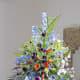 A Stunning Pedestal Floral Arrangement in the Swaffham Church.