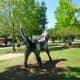 """Carter Ernst sculpture titled """"Pointing North."""""""