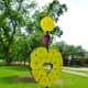 """Heart of the Heights"" sculpture by Eisenhut/Ramos in True South sculpture exhibit Houston"