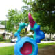 """Bunny"" sculpture by Tara Conley in True South sculpture exhibit Houston"