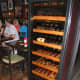 Wine cabinet beside the bar.