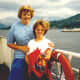 Yours truly and my niece aboard the Britannia