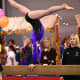 Back Walkover on Beam at a Level 6 Gymnastics Competition (1/4)
