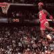 Michael Jordan's famous dunk where he seemed like flying.