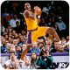 Kobe Bryant hustles for the rebound.