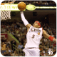 Allen Iverson dunking the basketball.