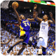 Kobe Bryant making a lay up against Kevin Durant.