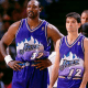 Karl Malone with his most trusted teammate John Stockton.