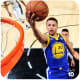 Stephen Curry making a lay-up.