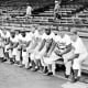 The real lords of Flatbush: Furillo, second from left. The 1956 Brooklyn Dodgers with manager Walter Alston. Five Hall of Famers and the rest should be. Alston remained manager until 1976.