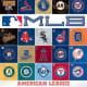Team logos in the two leagues.