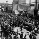 April 9, 1968, Dr. King's funeral rolls through Atlanta