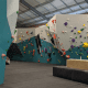 This is an example of what bouldering looks like. Each of the different colors is a different puzzle. You can see that a lot of them intersect each other which also adds a degree of difficulty.