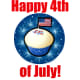 4th of July clip art: patriotic cupcake