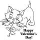 Sample coloring kids Valentine's Day card