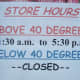 A candy shop in Manitou Springs clearly needs better heating...