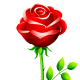 free red rose flower clip art