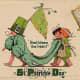 "Vintage kids: Children celebrating St. Patrick's Day with a parade ""God Bless the Irish!"""