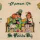 "Vintage children: Irish kids kissing while Lady Liberty watches ""Erin go Bragh"""