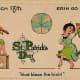Vintage cute kids: A fiddler plays while vintage kids dance  on St. Patrick's Day