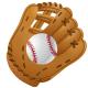 Softball clip art: baseball glove and ball