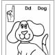 Sign Language Alphabet Free Coloring Pages - Apple to Ice - Letter D