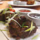 Jamican Callaloo Fritters made with Amaranth